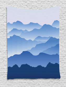 Nature Theme Silhouette Tapestry