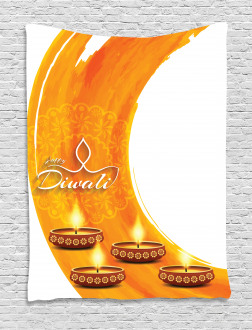 Diwali Candle Celebrate Tapestry