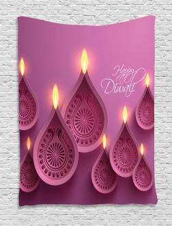 Candles for Celebration Tapestry