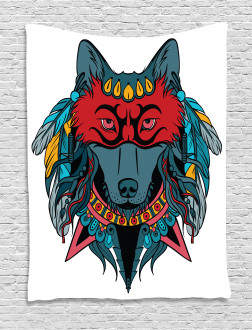 Wolf Animal Theme Tapestry