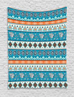 Floral Aztec Art Pattern Tapestry