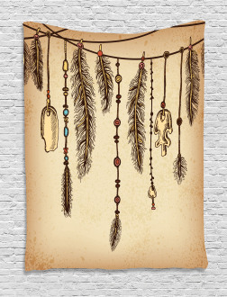 Bohemian Feathers Tapestry