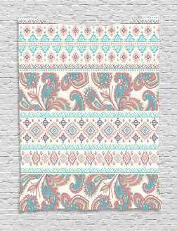 Floral Paisley and Aztec Tapestry