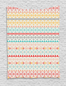 Boho Stripes and Shapes Tapestry