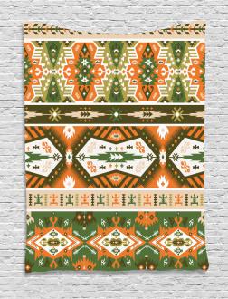 Aztec Mayan Style Stripe Tapestry
