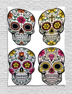 Skull Celebration Tapestry