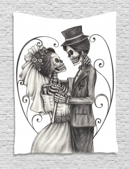 Skeleton Marriage Tapestry