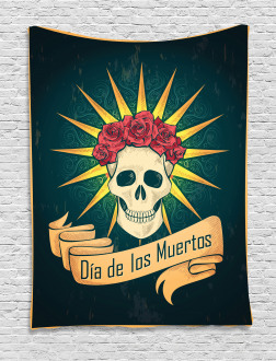 Day of Dead Grunge Tapestry