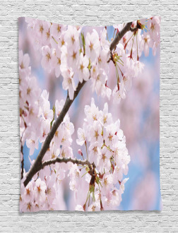 Floral Cherry Branches Tapestry