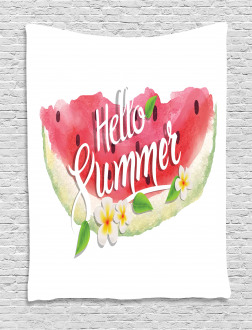 Summer Welcome Quote Tapestry