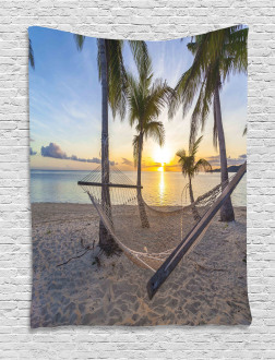 Paradise Beach Palms Tapestry