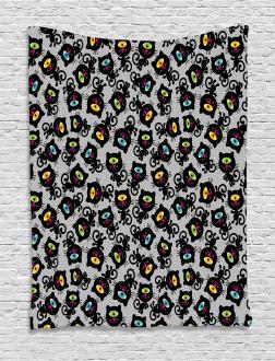 Spiritual Kitten Pet Animal Tapestry