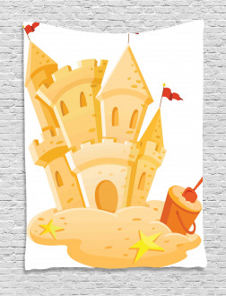 Sand Castle Kingdom Summer Tapestry