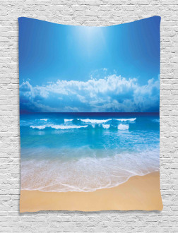 Cloudy Sky in Sea Summer Tapestry