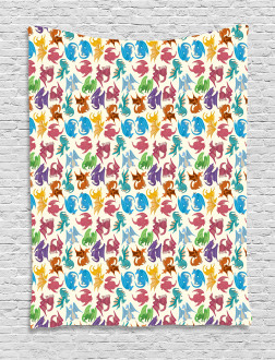 Children Pattern Colored Tapestry