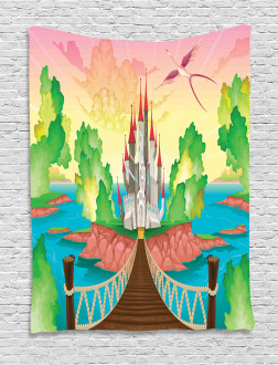 Wooden Bridge and Bird Tapestry