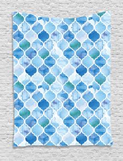 Arabic Mosaic Pattern Tapestry