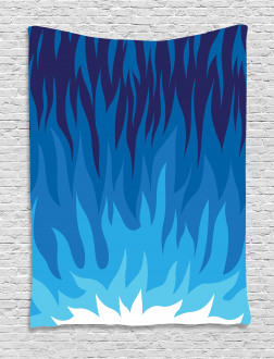 Abstract Gas Flame Fire Tapestry