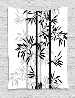 Bamboo Tree Leaves Zen Tapestry
