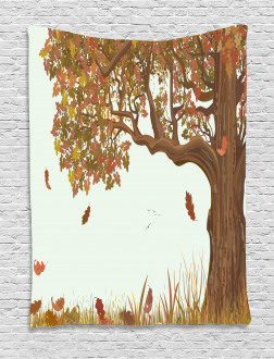 Deciduous Oak Leaves Tapestry