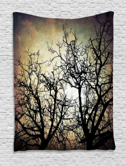 Grunge Branches Twilight Tapestry