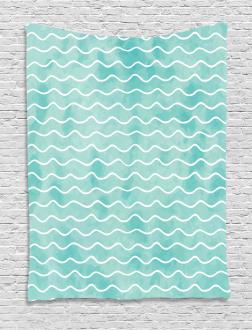 Ocean Sea Wave Pattern Tapestry