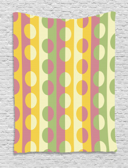 Retro Geometric Stripe Tapestry