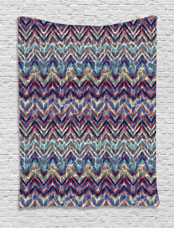 Abstract ZigZag Chevron Tapestry