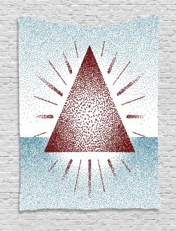 Dots Retro Pyramid Tapestry