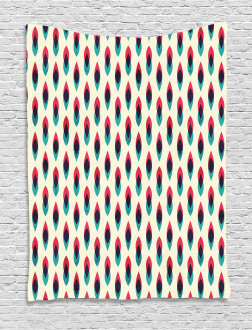 Geometric Curve Pattern Tapestry