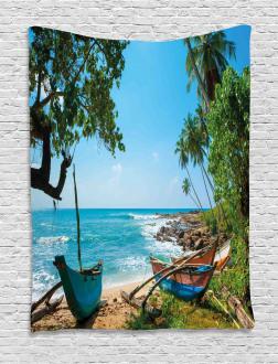 Tropical Ocean Scenery Tapestry