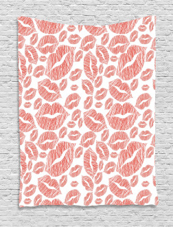 Hot Retro Lady Lips Tapestry