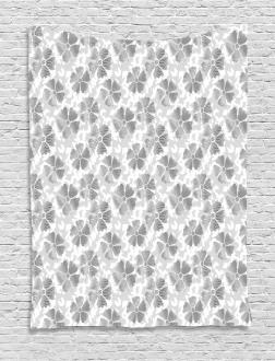 Digital Flower Petals Tapestry