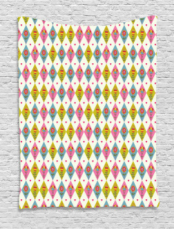 Geometric Tulips Pattern Tapestry