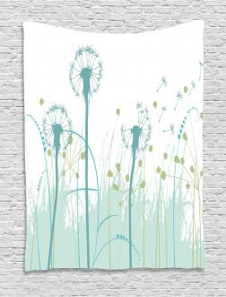 Floral Botany Blooms Tapestry