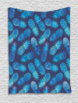 Exotic Pineapple Figures Tapestry