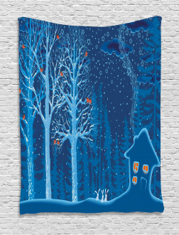 Winter Scenery with Show Tapestry
