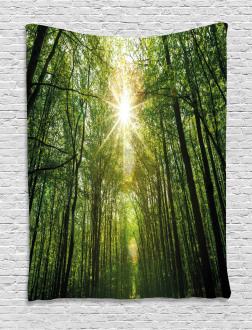 Summer Trees Upward View Tapestry