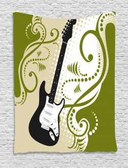 Electric Bass Guitar Tapestry