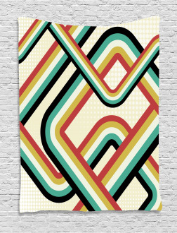 Artistic Subway Lines Tapestry