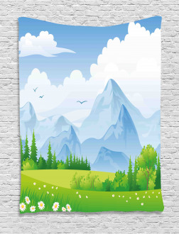 Summer Meadow with Daisy Tapestry