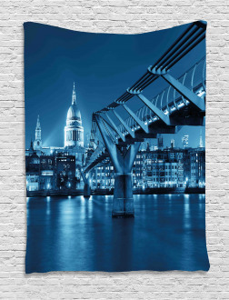 Night London Monument Tapestry