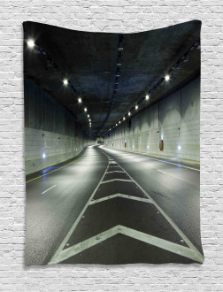 Interior Urban Tunnel Tapestry