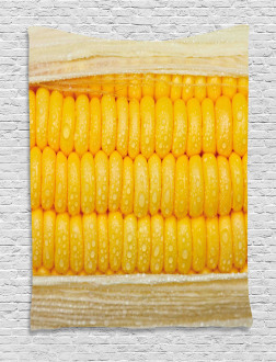 Corn Stem with Raindrops Tapestry