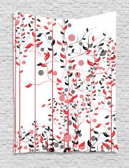 Flowers Ivy Swirl Leaves Tapestry
