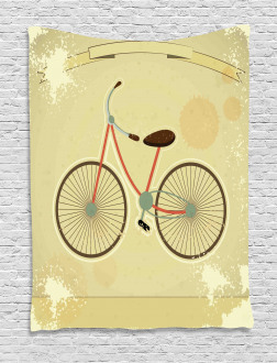 Postcard of Retro Bike Tapestry