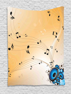 Abstract Melodies Notes Tapestry