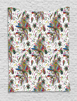 Ethnic Flora Pattern Tapestry