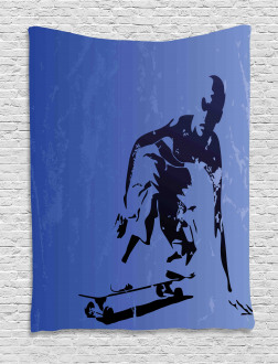 Abstract Vector Skaters Tapestry