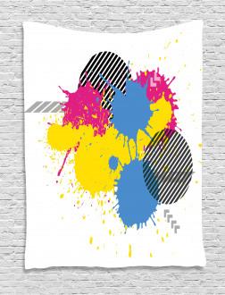 Grunge Ink Splatter Tapestry